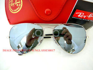 New-Ray-Ban-Sunglasses-RB-3025-W3275-Silver-Aviator-55
