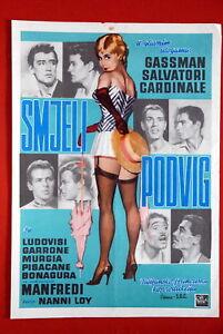 AUDACE-LOY-CLAUDIA-CARDINALE-1960-VITTORIO-GASSMAN-RARE-EXYU-MOVIE-POSTER