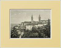 Saluzzo. Torre Comunale- Piemonte. In Passepartout 1894 -  - ebay.it