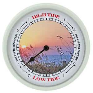 TIDE-CLOCK-Sea-Oats-260-Nautical-Wall-Tide-Clock