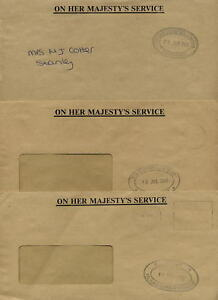 FALKLAND-ISLANDS-2000-OHMS-OFFICIAL-COVERS-3-DIFF-DEPTS