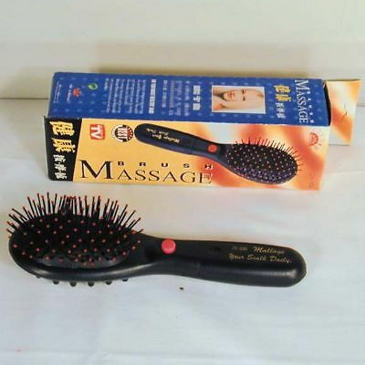 2 Massage Hair Brush Novelty Massager Therapy Head Fun Massager Battery Operated