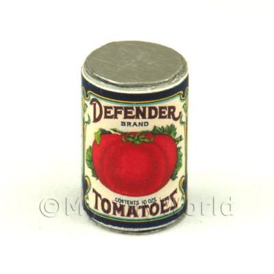 Miniature Defender Tomato Can 1920s Dolls House Food