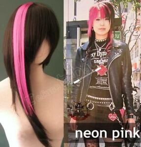5-STREAK-MULTIPACK-1x15-034-Neon-Pink-Punk-Lolita-Cosplay-Hair-Extension