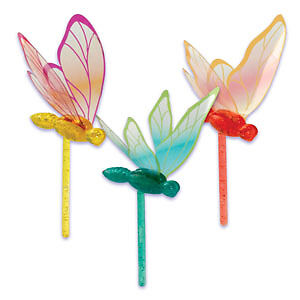 12-DRAGONFLY-cupcake-PICKS-new-PARTY-so-pretty-FAVORS