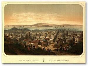Antiguo-Panorama-de-SAN-FRANCISCO-S-XIX-77x57cm-Poster