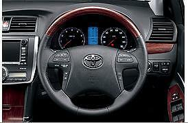 TOYOTA JAPAN ALLION WOOD STYLE & LEATHER STEERING WHEEL