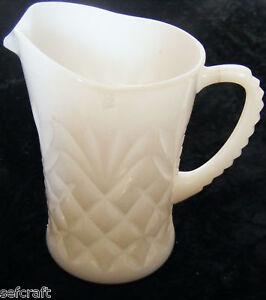 EAPG-MILK-GLASS-Pineapple-fan-Milk-Pitcher-hocking