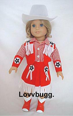 Red Cowgirl Doll Clothes Fits 18 American Girl Nikki Lovvbugg=widest Selection on Sale