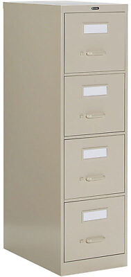 Lot Of 2 Lockable Metal 4 Drawer Vertical File Cabinets Office Furniture