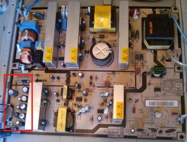 Repair Kit,Samsung LNT4061F Rev2, LCD TV, Capacitors