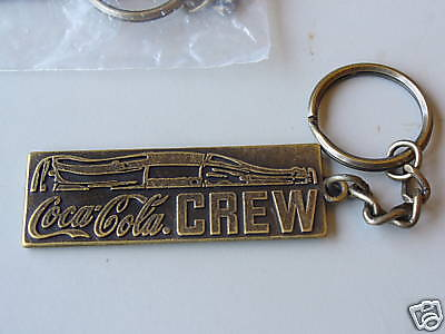 COCA-COLA COKE 1980'S SOLID KEY RING RARE