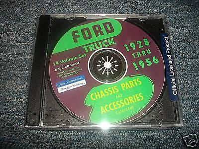 1928 - 1956 Ford Truck Master Parts Manual Catalog Cd