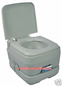 toilette mit wassersp lung tragbar chemisch f r camping wohnwagen ebay. Black Bedroom Furniture Sets. Home Design Ideas