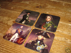 Lord Horatio Nelson England Expects Drinks Coaster Set