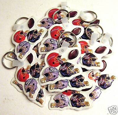 25 Budweiser Football Helmets An Busch Beer Key Chain
