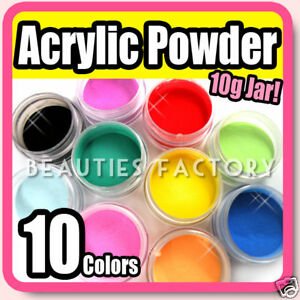 10-COLOR-ACRYLIC-POWDER-10g-Nail-Art-Tips-Manicure-285
