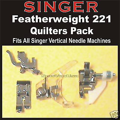 Singer Featherweight Sewing Machine 221 222 Quilters Quilt Pack Free Shipping