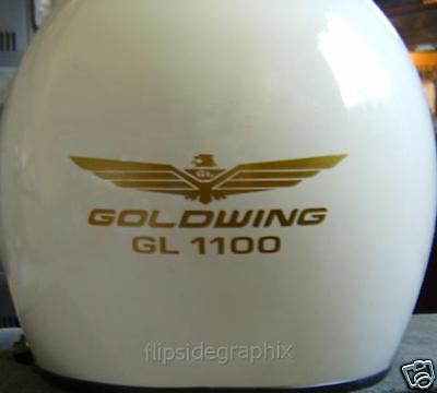 Goldwing Gl1100, Motorcycle Helmet Decals (3 Sets) For Honda Rider Gwh5-1100