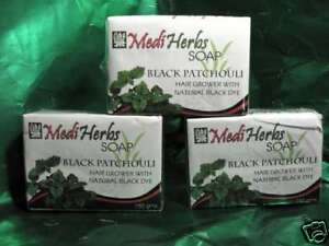 3pcs HAIR GROWER restorer SHAMPOO SOAP Black Patchouli