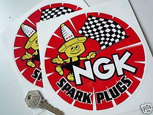 Ngk Round Red 6 Inch Spark Plug Man Style Stickers Ebay