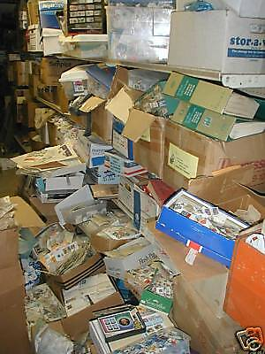 1000000's of STAMPS-ALBUMS-GLASSINES-MINT-SETS-Used-COLLECTION-LOT-DEALER CARDS!