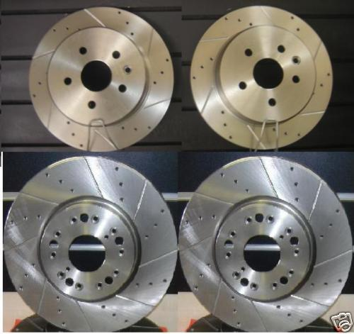 LEXUS GS300 GS450 GS460 DRILLED GROOVED BRAKE DISC
