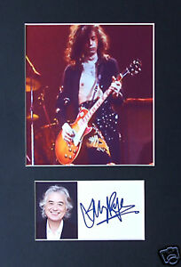 JIMMY PAGE  Signed mounted photo presentation Led Zeppelin Music Autographed