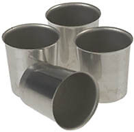 Seamless-Metal-VOTIVE-Candle-Molds-50-pcs-with-50-wicks