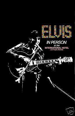 King of Rock: Elvis Presley  International Hotel Concert Poster Circa 1969