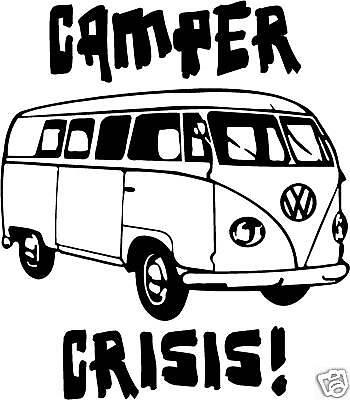 camping car crise autocollant pour voiture d coration murale vw camping car ebay. Black Bedroom Furniture Sets. Home Design Ideas