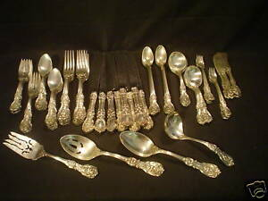 72-PC-REED-amp-BARTON-034-FRANCIS-I-034-STERLING-SILVER-DINNER-SERVICE-SERVICE-FOR-8