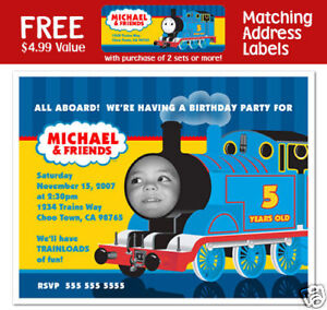 Image Is Loading 8 Thomas The Tank Engine Train Birthday Party