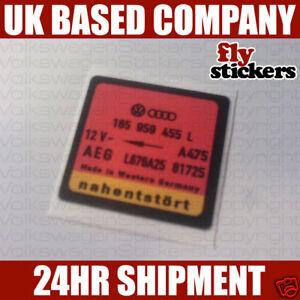 vw mk2 golf fan part number sticker 455l ebay. Black Bedroom Furniture Sets. Home Design Ideas