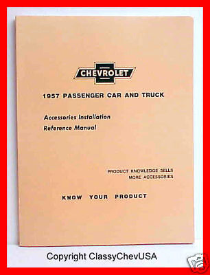 1957 Chevy Car & Truck Accessory Installation Manual