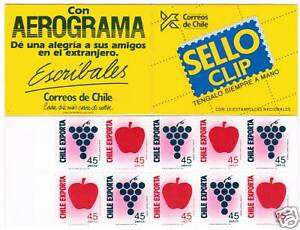 Chile-1991-Booklet-Fruit-exports-MNH-1355-6