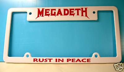 MEGADETH license plate frame - RUST IN PEACE -NICE ITEM