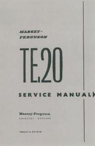 FERGUSON TRACTOR TE20 WORKSHOP MANUAL - PETROL & DIESEL