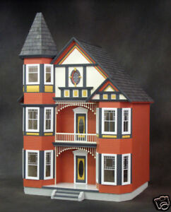 Huge Victorian Painted Lady Dollhouse Kit Ebay