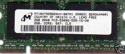 2gb Hp Compaq Presario Pc2-5300/pc2-6400 Ddr2 Notebook/laptop Ram Memory