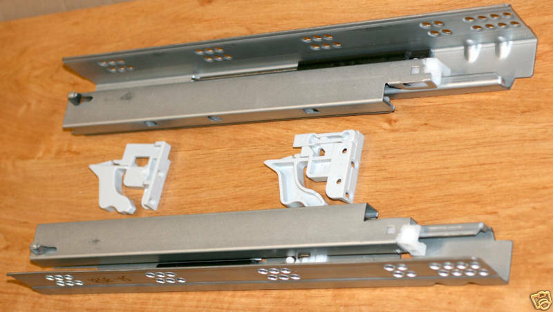 Pair Of 15 Full Extension Undermount Soft Close Drawer Slides Heavy Duty