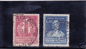 ITALIA-REPUBBLICA-1949-INVENZIONE-PILA-VOLTA-USATI