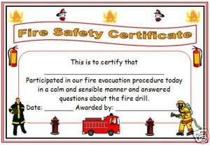 fire evacuation procedure template free - childminder childminding fire evacuation certificate x6 ebay