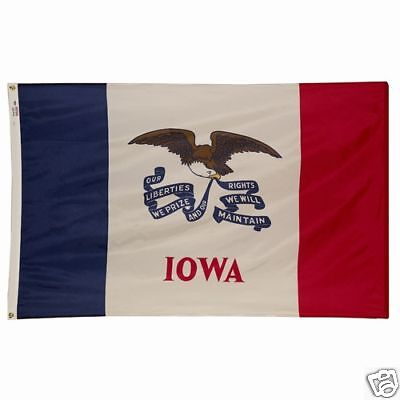 Iowa The Hawkeye State Official State Flag 3x5 Ft Outdoor Nylon Made In Usa