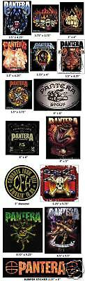 PANTERA CFH DIMEBAG DARRELL VINTAGE METAL VINYL STICKER SET BUMPER DECAL-NEW!!