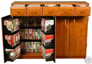 CD DVD Storage Cabinet Rack TV Stand W Drawers NEW