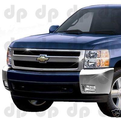 2007-2013 Chevy Silverado Front Bumper Chrome Cover Caps