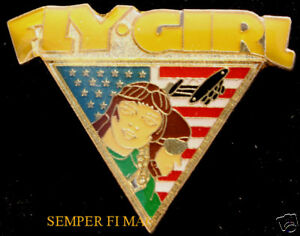 AUTHENTIC-FLY-GIRL-NOSE-ART-WW-2-PIN-UP-HAT-PIN-US-ARMY-NAVY-AIR-FORCE-MARINES