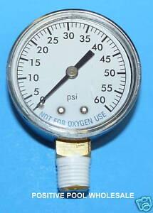 Pool-Spa-Filter-Pressure-Gauge-0-60-psi-1-4-034-Side-Bottom-Mount