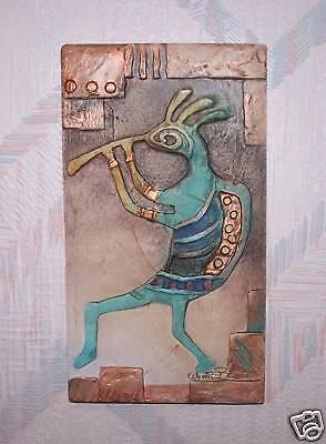 Kokopelli Wall Hanging Blue Kokopelli Connie Baker